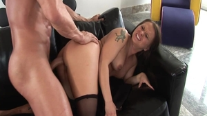 Cum on face porn starring super hot hardcore Katja Kassin