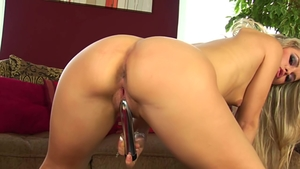 Czech blonde fun with toys