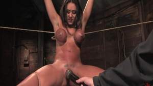 Bondage in the company of large tits babe Charley Chase