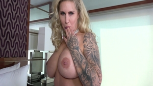 Hard nailining in company with large tits Ryan Conner