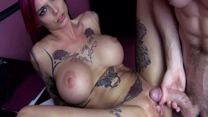 Anna Bell Peaks in tandem with large tits Anna Bell