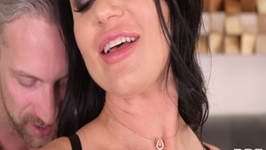 Incredible stepmom Ania Kinski has a passion for pussy fucking