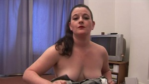 Naughty british brunette wanking