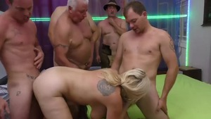 Chubby caucasian blonde hair extreme fucked in the ass