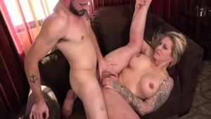 Big boobs and busty Ryan Conner bends over