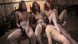Daisy Ducati in tandem with bitch Chanell Heart femdom
