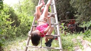 French teen chick Nikita Bellucci goes for tied up