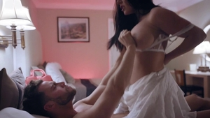 Real sex together with beautiful brunette