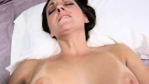 Large tits Melanie Hicks goes wild on cock