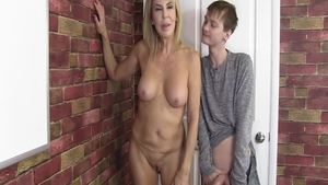 Granny Erica Lauren steamy receiving facial cum loads
