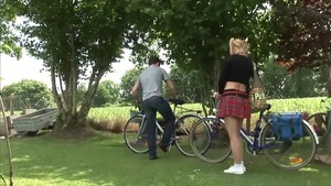 Large tits european amateur double penetration outdoors HD