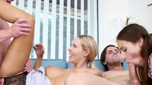 Group sex escorted by big boobs MILF