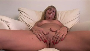 Big boobs stepmom bends over at the casting