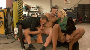 George Uhl in tandem with girl Christina Lee blowjob