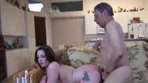 Shaved tattooed caucasian couple ass fucking in HD
