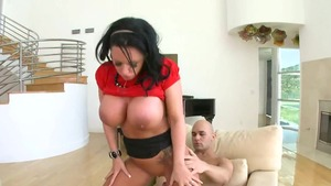 Rough receiving facial amongst large boobs Kerry Louise