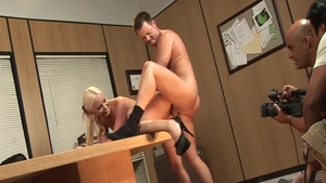 Big boobs & hot Brooke Haven doggy fuck after interview