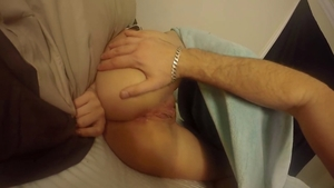 Trimmed pussy girl doggy style