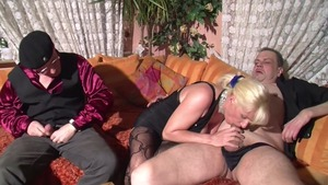 Double penetration starring lustful large tits german MILF
