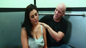 Young very sexy MILF steamy doggy fucks in the elevator