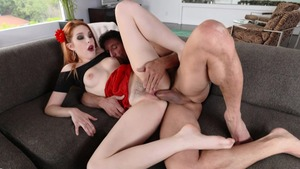 Hard fucking together with horny redhead Amarna Miller