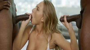 Young and super hot Carter Cruise in sexy lingerie threesome