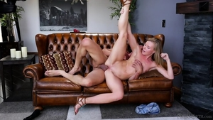 Hardcore hard sex in the company of blonde
