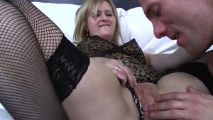 Very sexy blonde finds pleasure in rough fucking