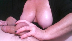 Wanking busty wife
