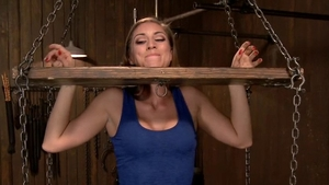 Rilynn Rae in fetish submissive tied up