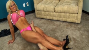 Hard pounding together with muscle asian girl Violet Monroe