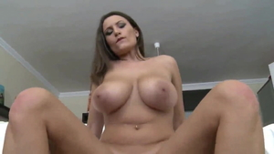 Large tits mature sucking cock