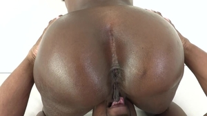 Big butt ebony Prince Yahshua first time bends to get fucked