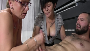Young and lustful GILF hardcore threesome