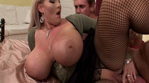 Plowing hard besides large boobs BBW Laura Orsolya