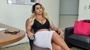 Busty cougar feels in need of POV anal pov sex in office