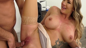 Large tits Cali Carter pornstar fucked in the ass sex tape