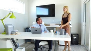 Trimmed & big tits Johnny Castle 69 in office