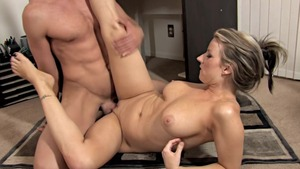 Busty Carolyn Reese hardcore riding a dick in office
