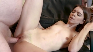 Incredible redhead fucked by big dick dude