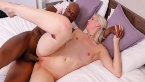 Blonde Lexi Lou interracial banging