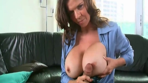 June Summers cum in mouth