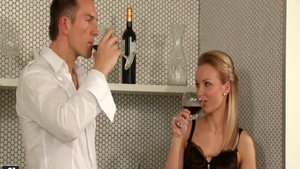 Hard slamming in company with amazing blonde