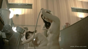 Voyeur hard pounding in company with asian amateur