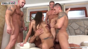 Mature Mea Melone group sex
