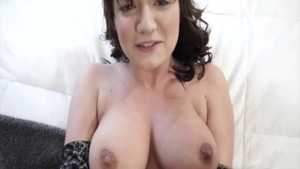 Sexy mature Charlotte Cross helps with hard nailining