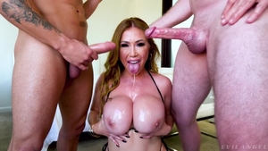 Crazy slamming hard along with large tits MILF