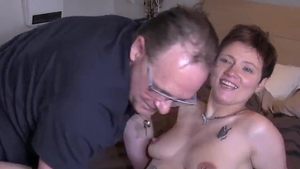 Flashing accompanied by young french MILF