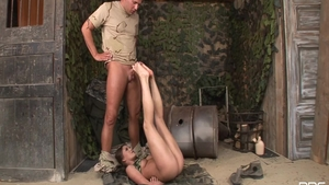 Sexy babe has a passion for hard slamming in uniform