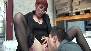 Passionate charming french redhead fucked anal